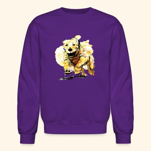 oil dog - Crewneck Sweatshirt