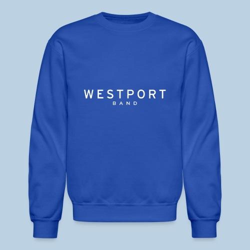 Westport Text White on transparent - Unisex Crewneck Sweatshirt