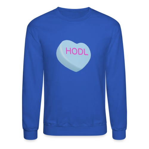 HODL - Hold on For Dear Life - Candy Heart - blue - Crewneck Sweatshirt