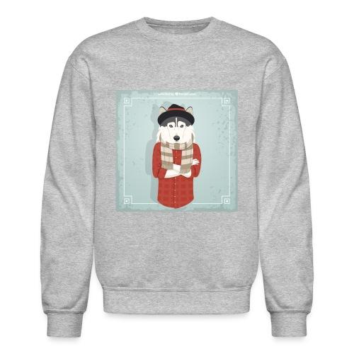 Hispter Dog - Crewneck Sweatshirt
