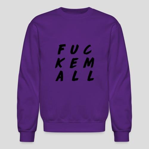 FUCKEMALL Black Logo - Crewneck Sweatshirt