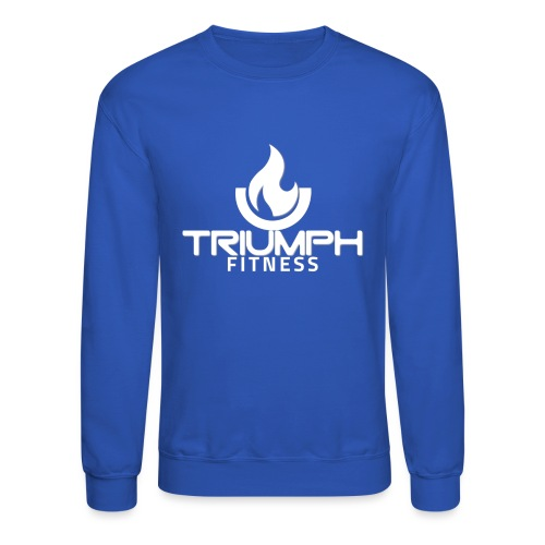 triumph 01clear white - Unisex Crewneck Sweatshirt