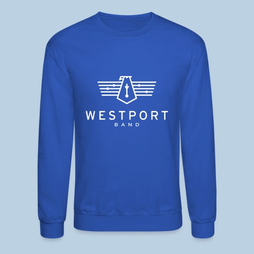 Westport Band White on transparent - Unisex Crewneck Sweatshirt