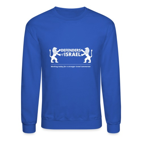 Defenders Of Israel White - Unisex Crewneck Sweatshirt