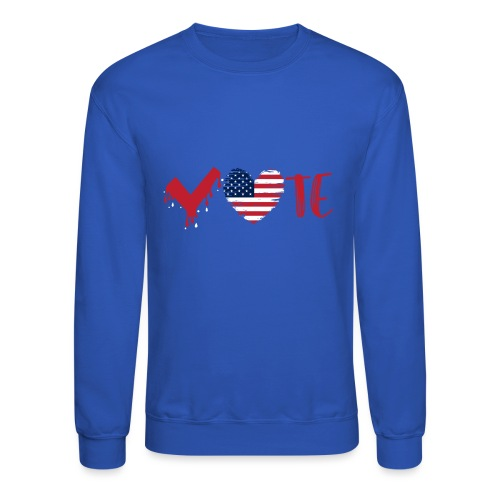 vote heart red - Crewneck Sweatshirt