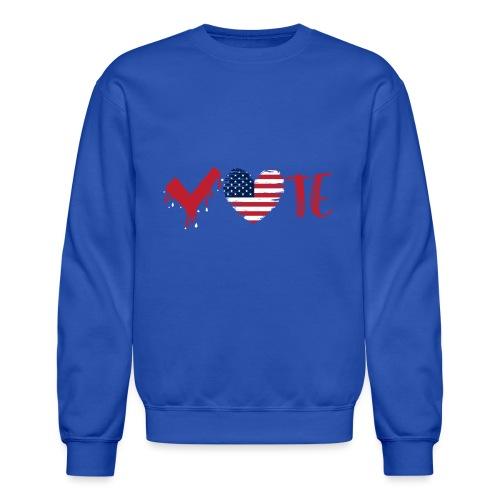 vote heart red - Unisex Crewneck Sweatshirt
