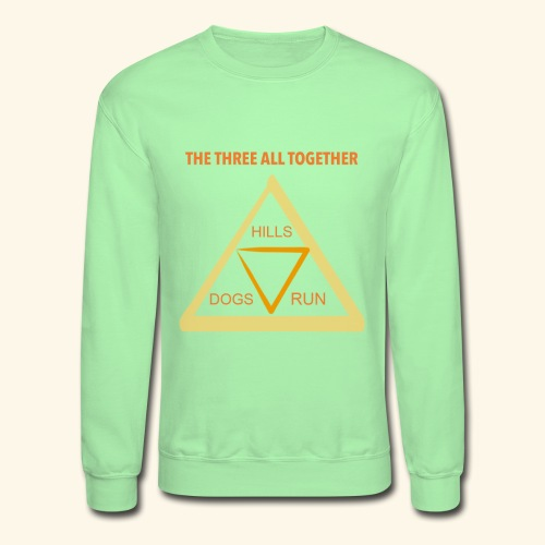 Run4Dogs Triangle - Unisex Crewneck Sweatshirt