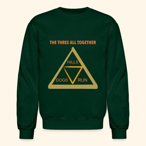 Run4Dogs Triangle - Unisex Crewneck Sweatshirt