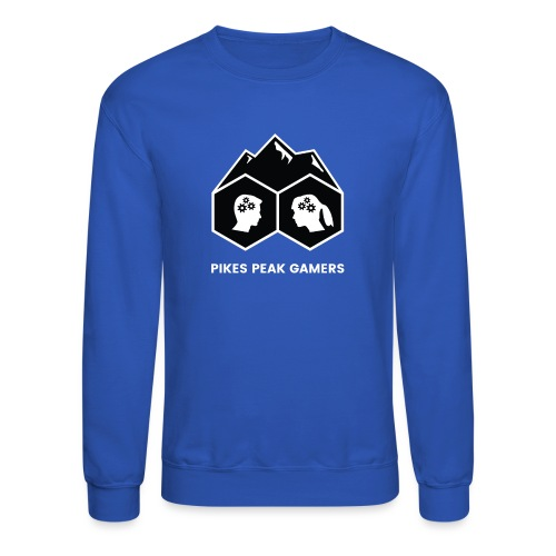 Pikes Peak Gamers Logo (Solid Black) - Crewneck Sweatshirt