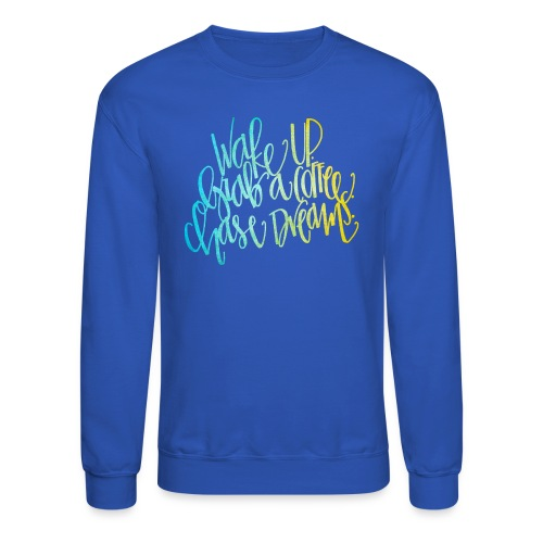 thick wake up patterned png - Crewneck Sweatshirt