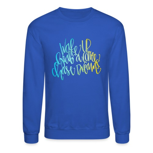 thick wake up patterned png - Unisex Crewneck Sweatshirt