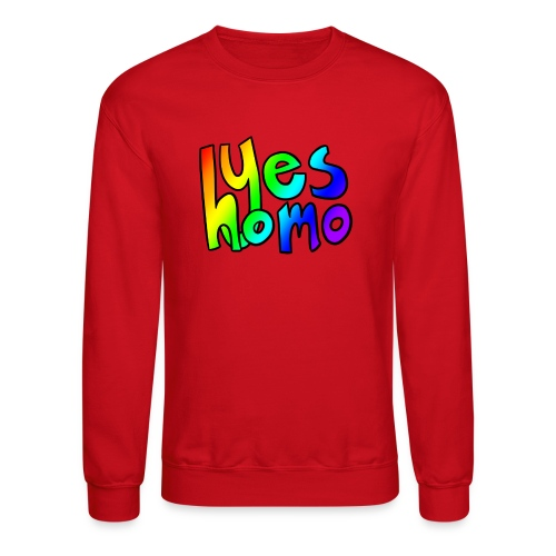 Yes Homo (Rainbow) - Crewneck Sweatshirt