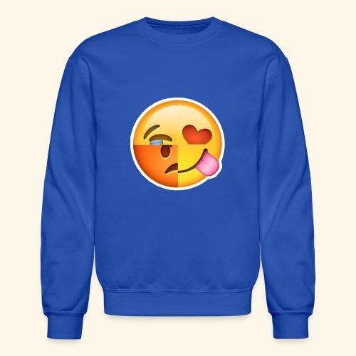 E Tees , Unique , Love , Cry, angry - Crewneck Sweatshirt