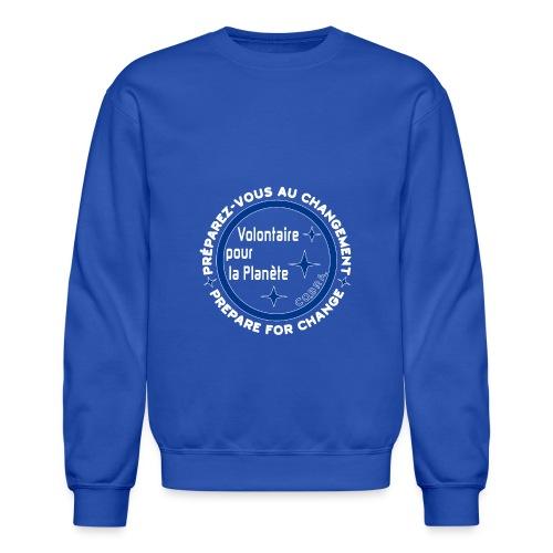 T Shirt recto fond bleu 2 - Crewneck Sweatshirt