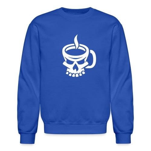 Caffeinated Coffee Skull - Crewneck Sweatshirt