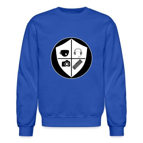 Punk Who Drinks Tea Crest (Inverted) - Unisex Crewneck Sweatshirt