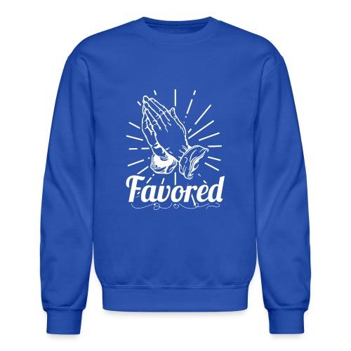 Favored - Alt. Design (White Letters) - Crewneck Sweatshirt