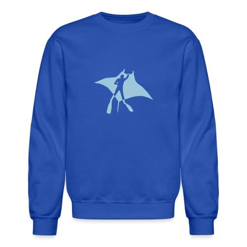 manta ray sting scuba diving diver dive fish ocean - Unisex Crewneck Sweatshirt