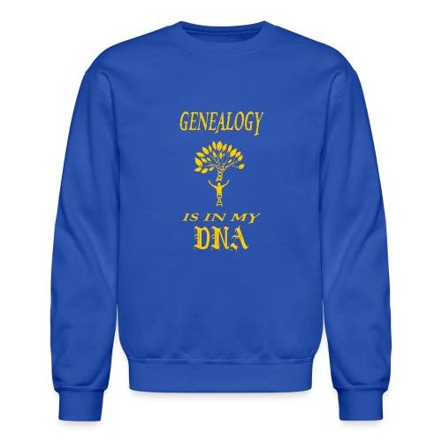 genealogy is in my dna funny birthday gift yellow - Crewneck Sweatshirt