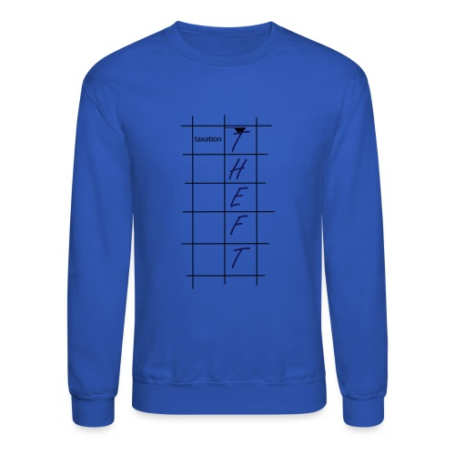 Taxation is Theft Crossword - Crewneck Sweatshirt