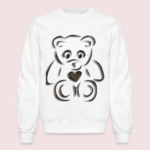 realistic teddy - Crewneck Sweatshirt
