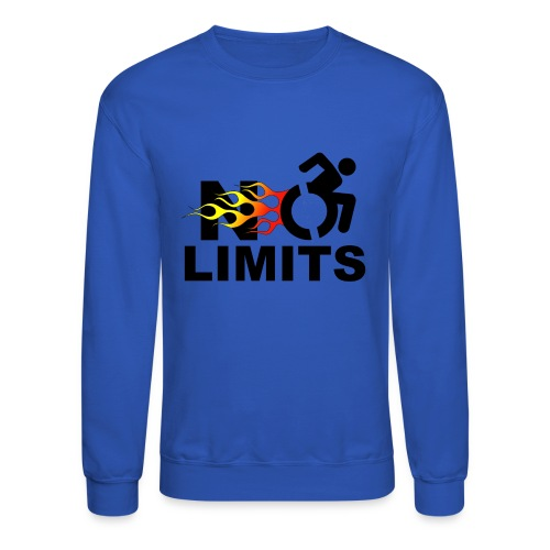 No limits for me with my wheelchair - Unisex Crewneck Sweatshirt