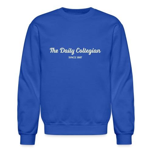 Cursive Writing Daily Collegian Sweatshirt - Unisex Crewneck Sweatshirt