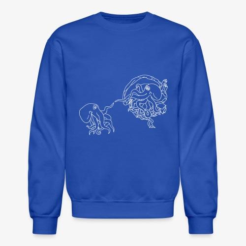 Octopus Creation White Outline - Crewneck Sweatshirt