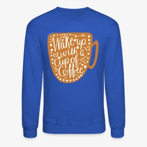 Coffee Cup with White Center - Crewneck Sweatshirt