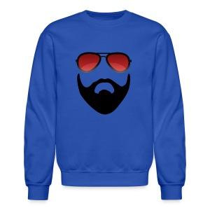 Beard and shades - Crewneck Sweatshirt