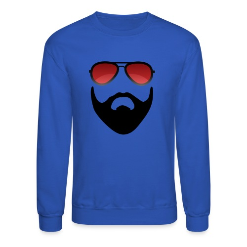 Beard and shades - Crewneck Sweatshirt