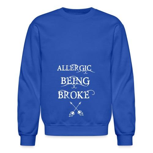 T shirt design1 png allergic - Crewneck Sweatshirt