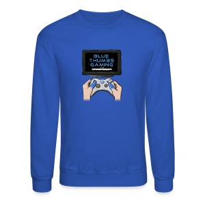 Blue Thumbs Gaming: Gamepad Logo - Crewneck Sweatshirt