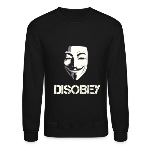Anonymous Disobey gif - Unisex Crewneck Sweatshirt