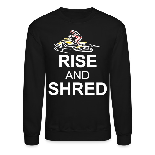 RISE AND SHRED NOB png - Crewneck Sweatshirt
