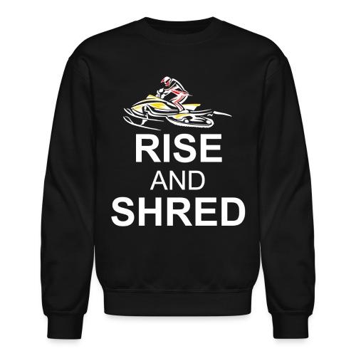 RISE AND SHRED NOB png - Crewneck Sweatshirt