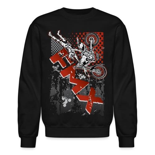 FMX Dirt Biker Red - Crewneck Sweatshirt