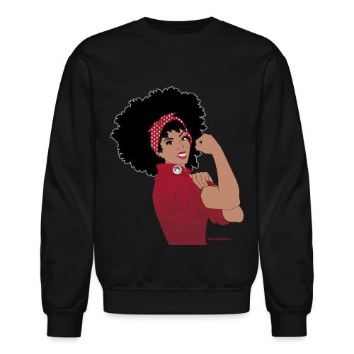 GlobalCouture WeCanDoIt RED Girl RGB png - Unisex Crewneck Sweatshirt