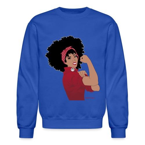 GlobalCouture WeCanDoIt RED Girl RGB png - Crewneck Sweatshirt