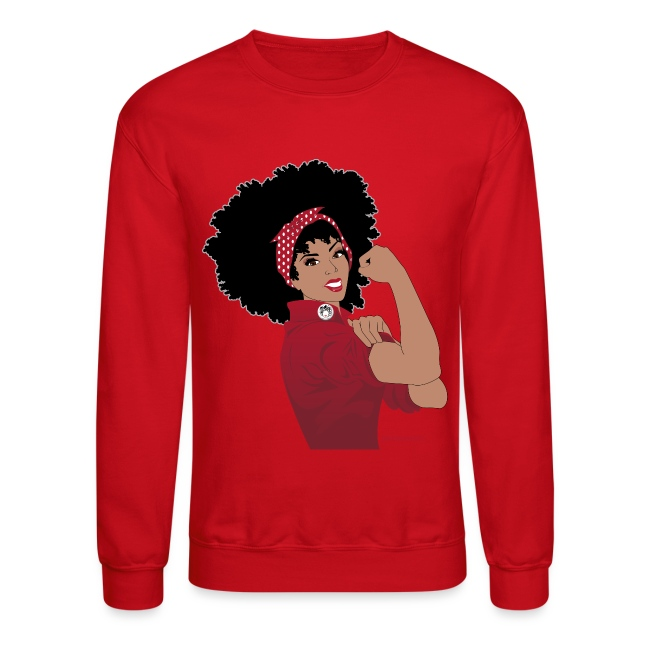 GlobalCouture WeCanDoIt RED Girl RGB png