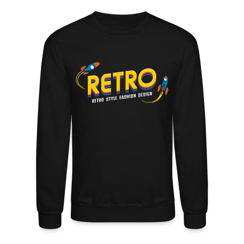 retro style fashion design - Unisex Crewneck Sweatshirt