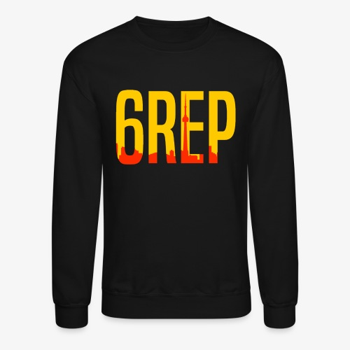 6repSkyYellowLogo - Crewneck Sweatshirt