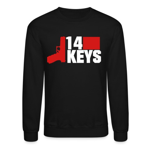 14 keys 2 colour logo - Crewneck Sweatshirt