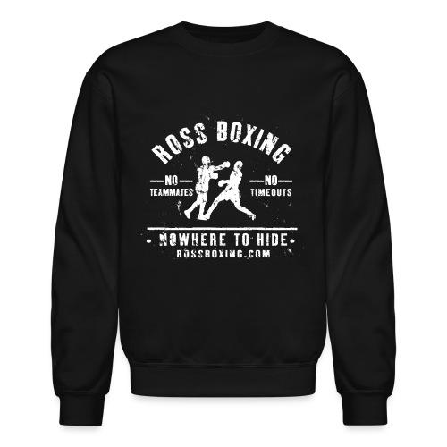 rossboxing_white - Unisex Crewneck Sweatshirt