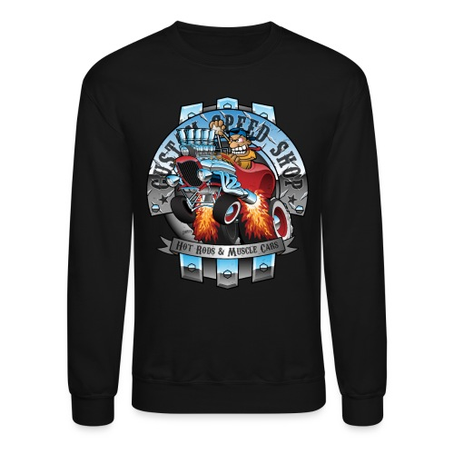 Custom Speed Shop Hot Rods and Muscle Cars Illustr - Crewneck Sweatshirt