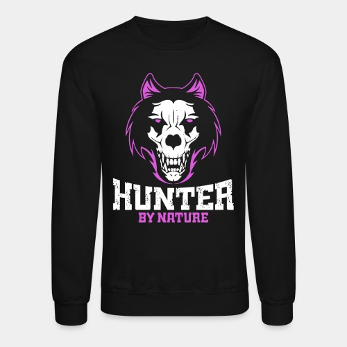 wolf hunter by nature - Crewneck Sweatshirt