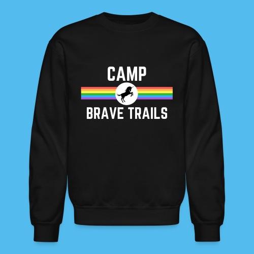 Brave Trails Triangle Rainbow Flag - Crewneck Sweatshirt