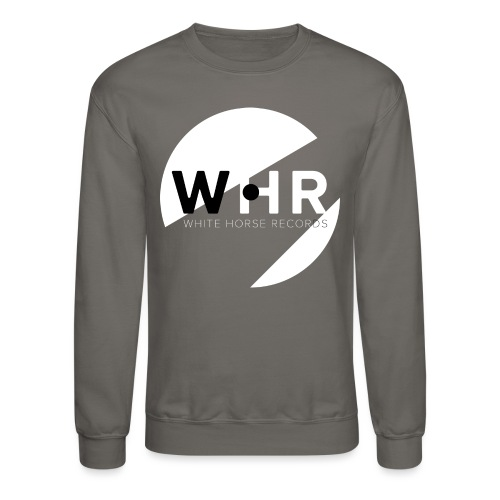 White Horse Records Logo - Black - Unisex Crewneck Sweatshirt