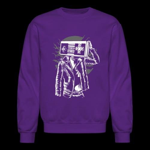 Retro Gamer Head - Crewneck Sweatshirt
