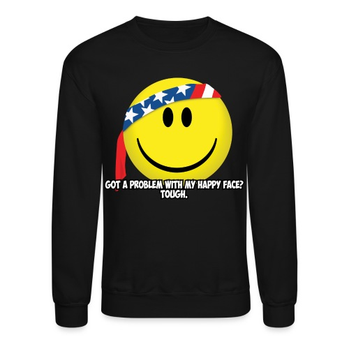 Happy Face USA - Unisex Crewneck Sweatshirt